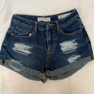Pacsun ripped jean shorts
